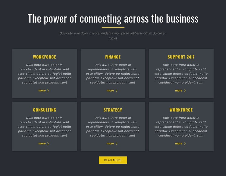 Power of Business CSS Template