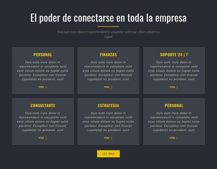 Poder de los negocios Plantilla de sitio web