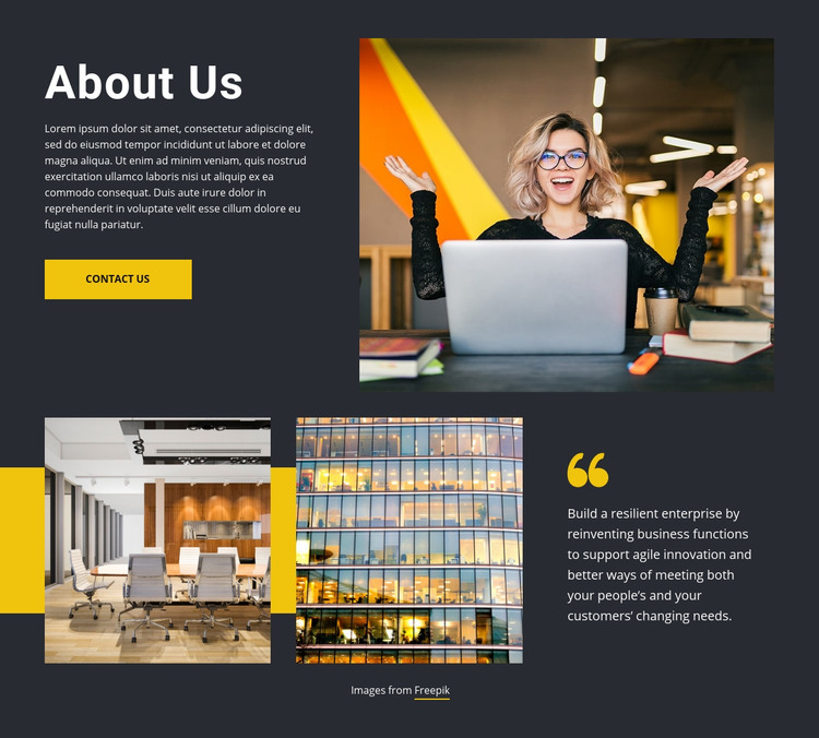 We care about our customers Homepage Design