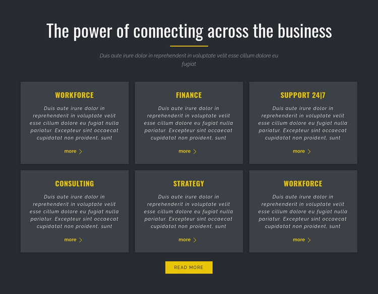 Power of Business HTML Template