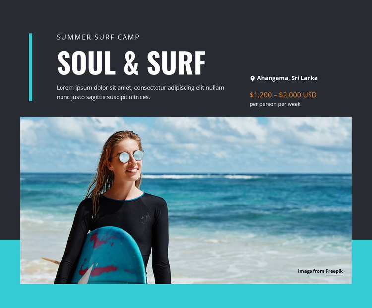 Soul & Surf Camp HTML Template