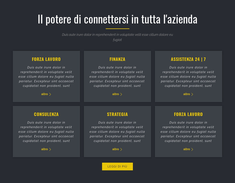 Potere del business Modello di sito Web