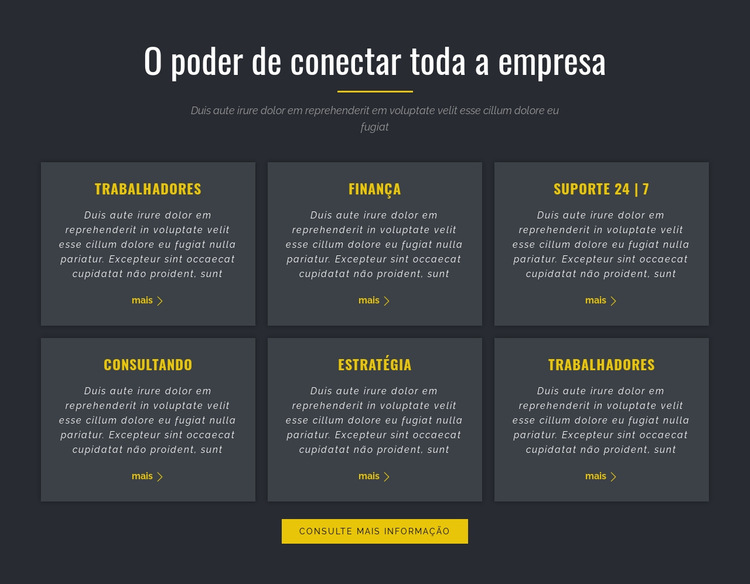 Poder dos Negócios Modelo de site