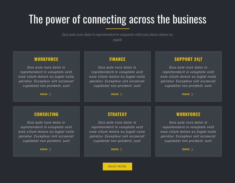 Power of Business Template