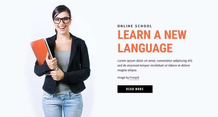 Learn a New Language Website Design