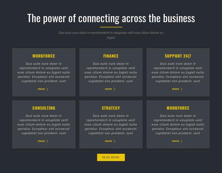 Power of Business Website Template
