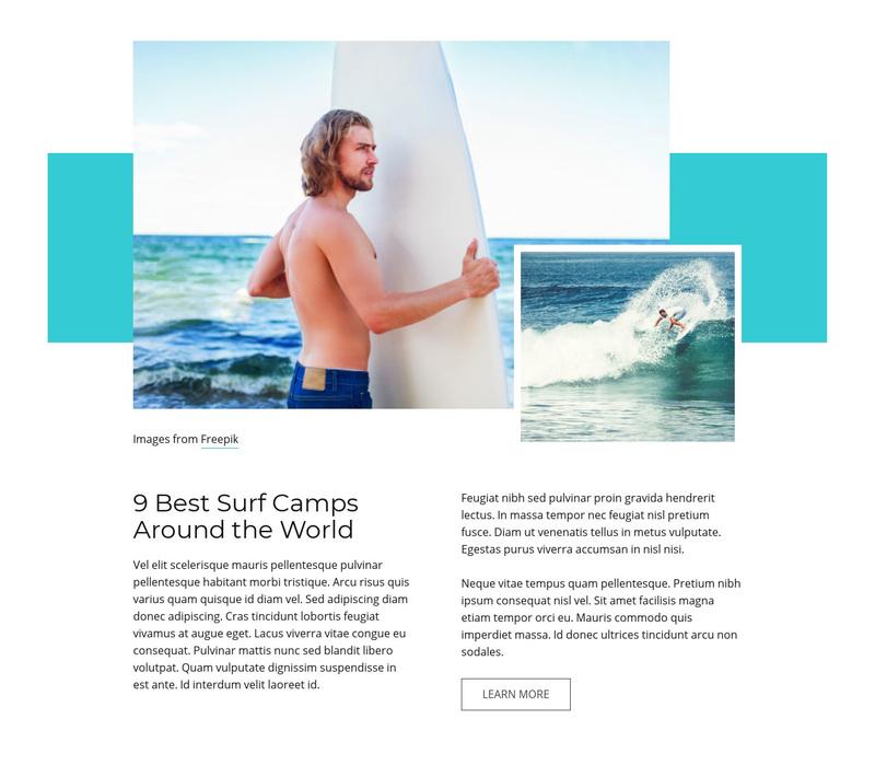 Best Surf Camps Web Page Design