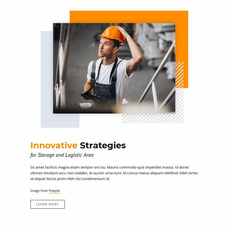 Innovative Strategies Landing Page
