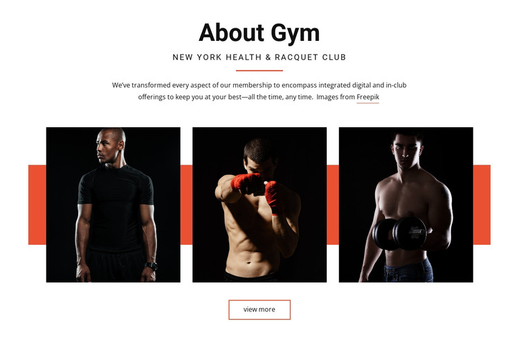 About Gym HTML Template