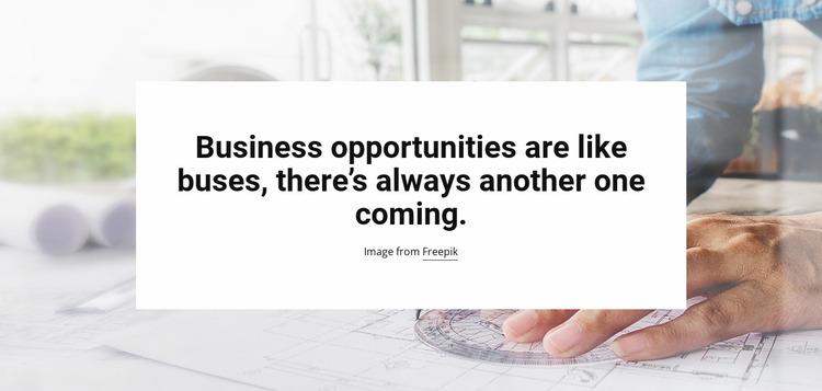 Business Opportunities Html Website Builder