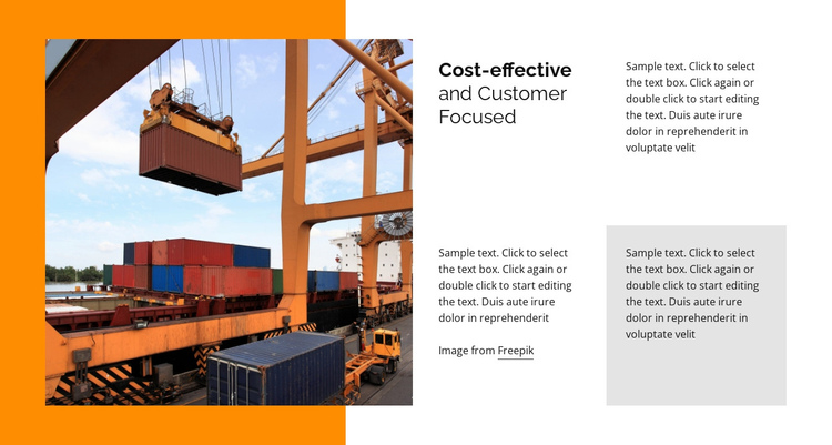 Shipping and Logistics One Page Template