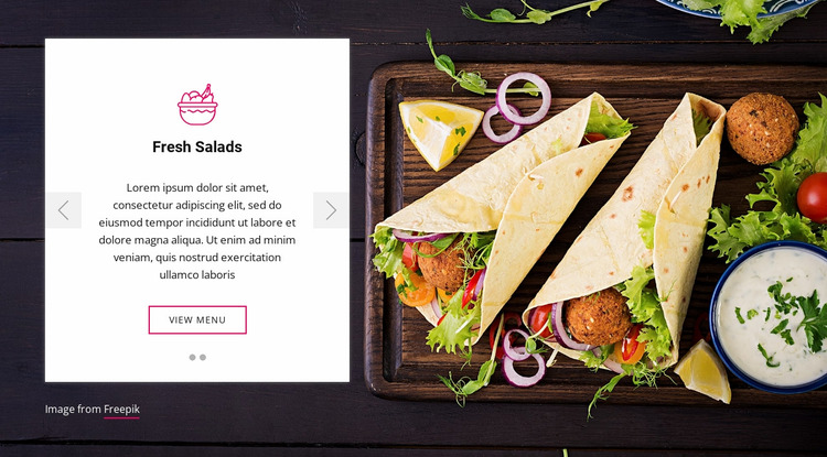Fresh salads Website Mockup