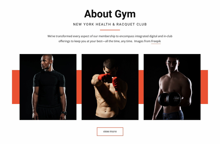About Gym Website Template