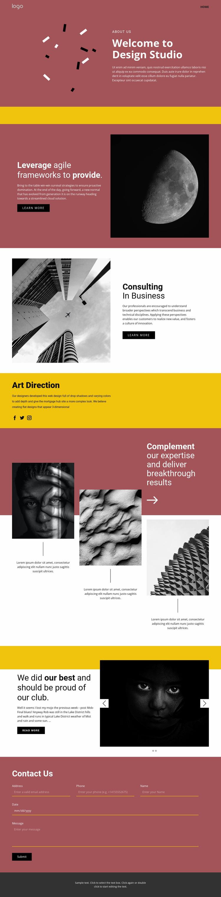 Studio of expressive art Website Template
