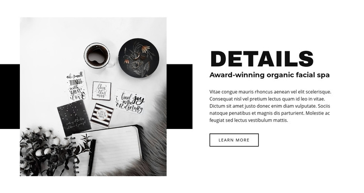 Beauty in details Homepage Design