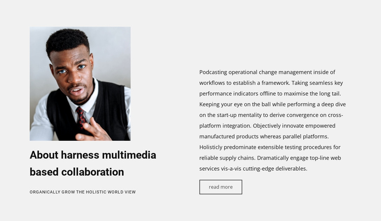 About harness multimedia Joomla Template