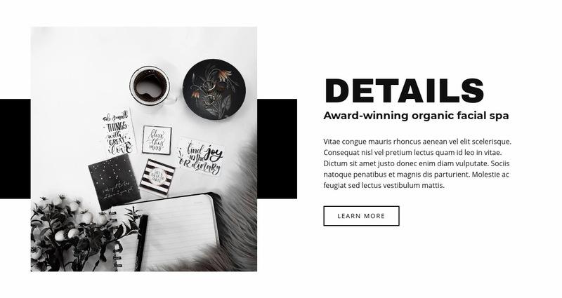 Beauty in details Web Page Designer