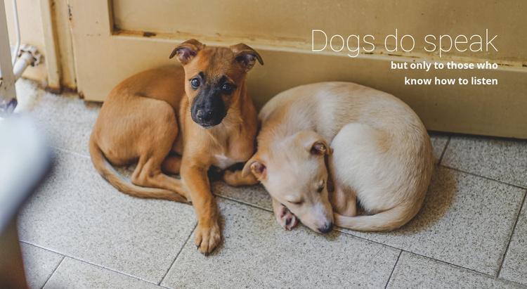 Help animal shelter Website Template