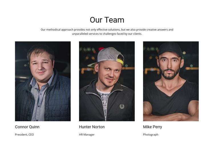 Barber shop group Website Template