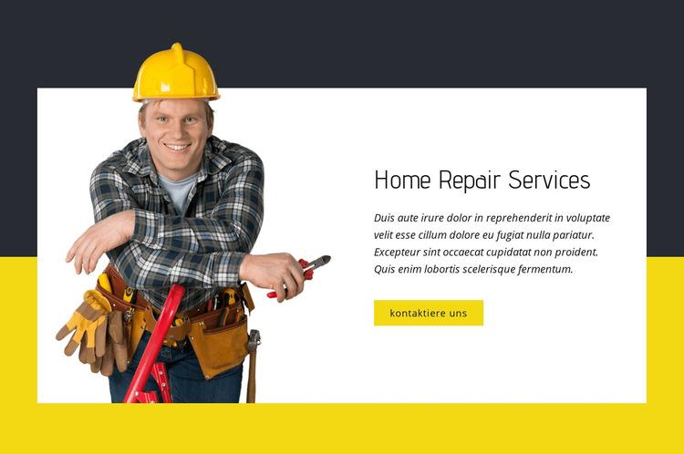 Experten für Reparaturen zu Hause Website-Vorlage