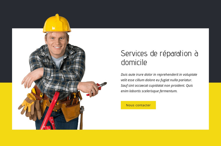 Experts en réparation à domicile Modèle de site Web