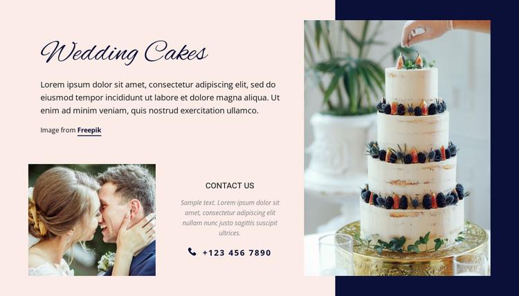 Wedding Cakes HTML Template