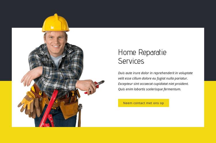 Home reparatie experts Website sjabloon