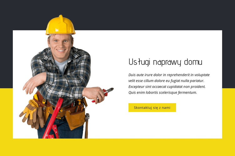 Eksperci od napraw domowych Szablon witryny sieci Web