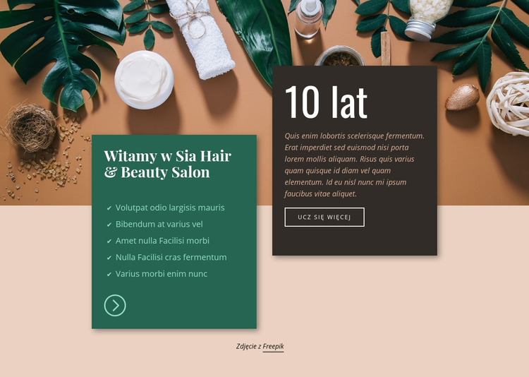 Salon fryzjersko-kosmetyczny Spa Szablon Joomla