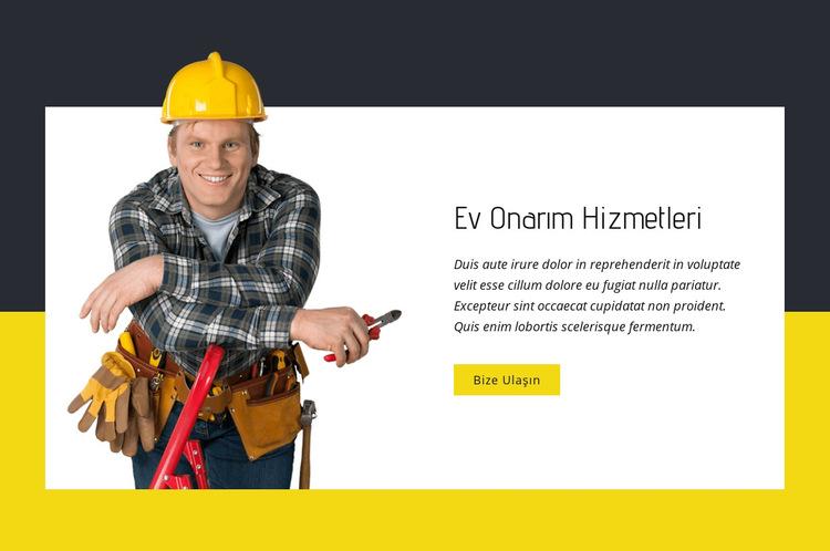 Ev onarım uzmanları Web Sitesi Şablonu