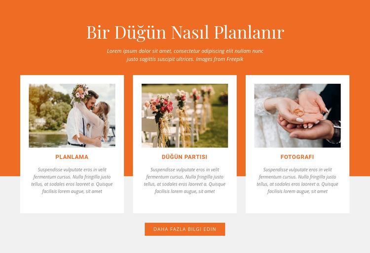 Bir Düğün Nasıl Planlanır Web Sitesi Şablonu