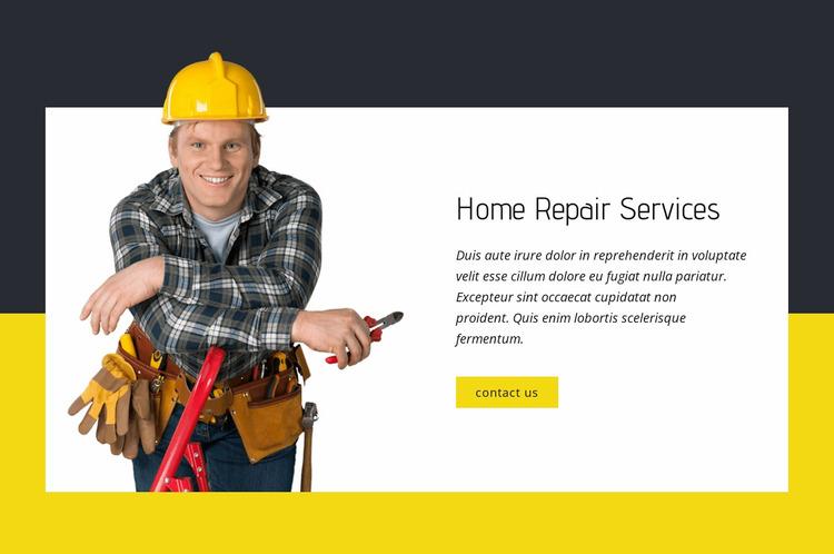 Home repair experts Website Mockup