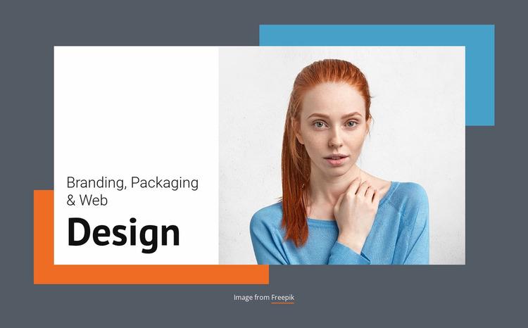 Meet the branding studio Website Mockup