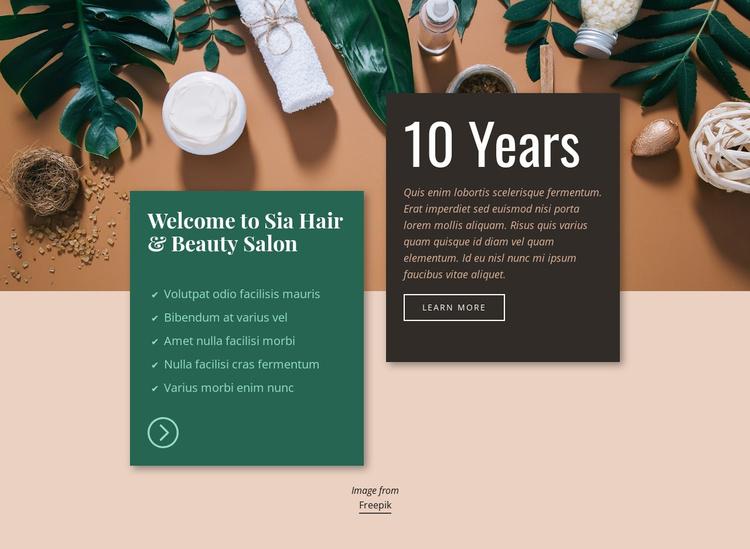 Spa Hair & Beauty Salon Landing Page