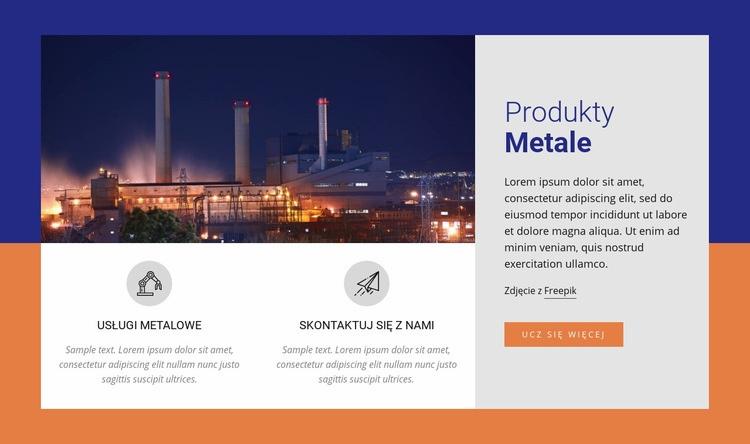 Produkty metalowe Szablon Joomla