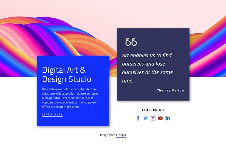 We build digital brands, products and experiences Website Mockup
