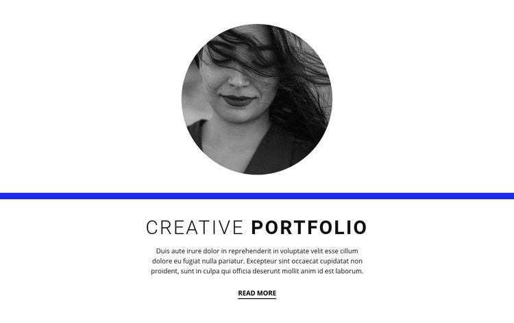 Creative portfolio Homepage Design