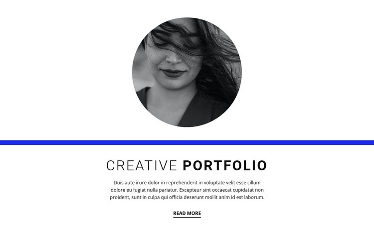 Creative portfolio Html Code Example