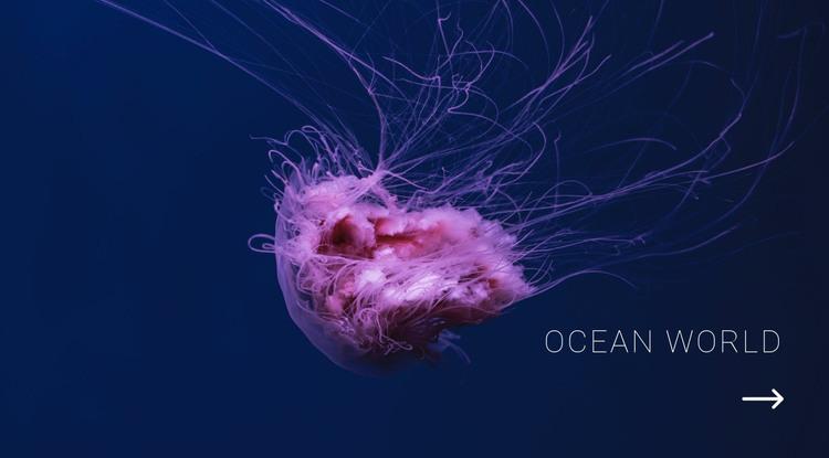 Ocean world HTML Template