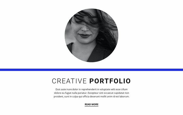 Creative portfolio Html Website Builder
