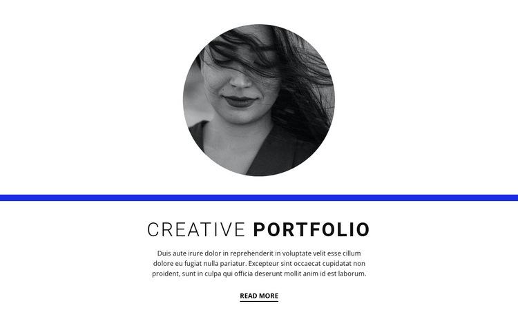 Creative portfolio HTML5 Template