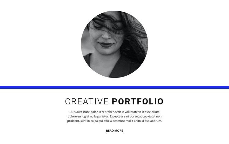 Creative portfolio Joomla Page Builder