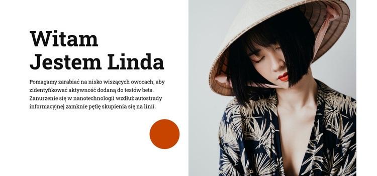 Witam, jestem Linda Szablon witryny sieci Web
