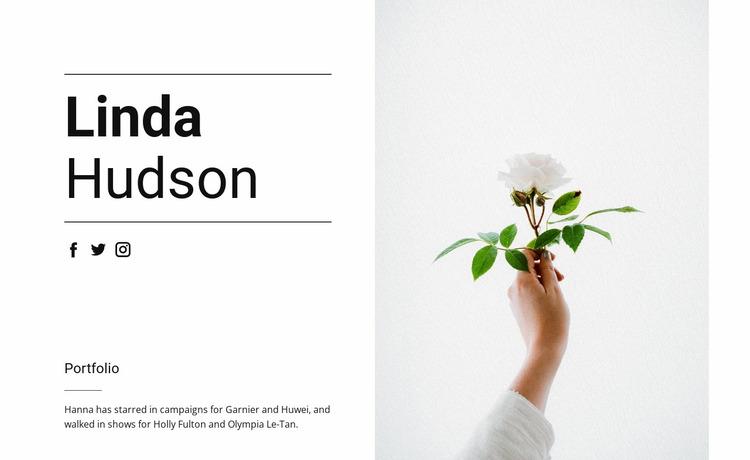 About Linda Hudson Website Mockup
