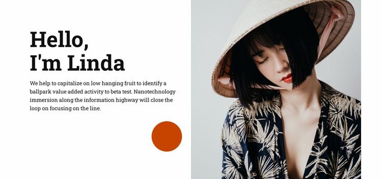 Hello, i'm Linda Website Mockup