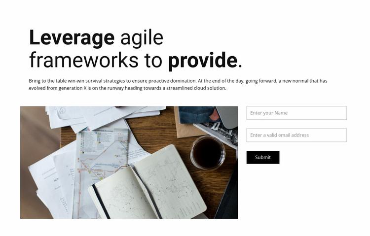 Time management Website Template