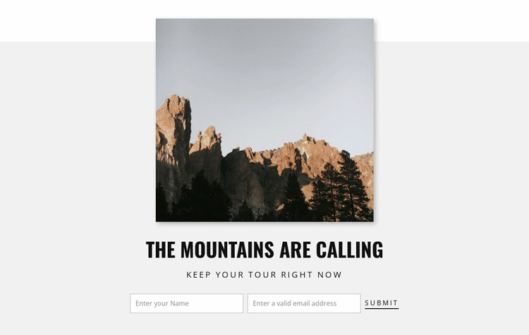 Mountains are calling  Landing Page
