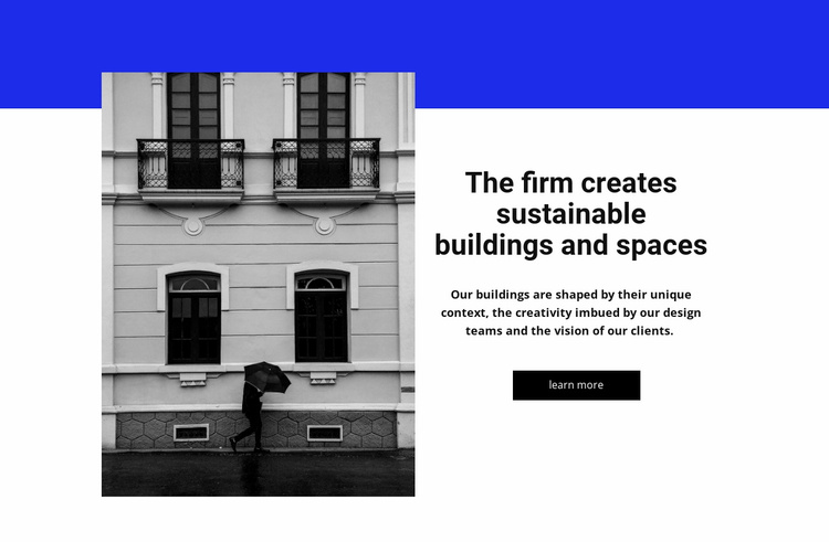 Building and spase Website Template