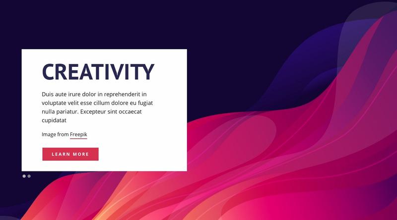 Creativity Design Studio Web Page Design