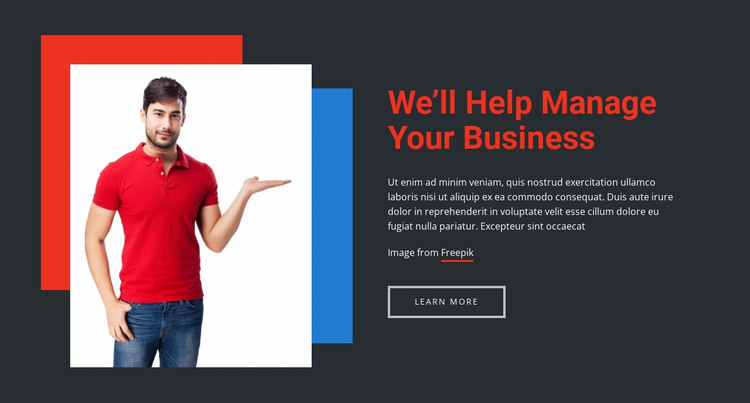 We help you to better manage your business HTML Template